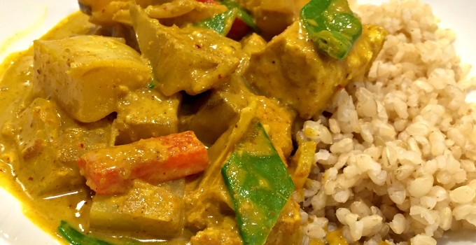 Homemade Thai Yellow Curry Paste, plus Chicken or Tofu in Yellow Curry