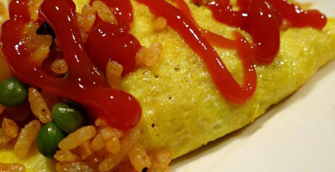 Japanese Fried Rice Omelet (Omurice)